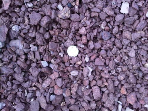 Coal Slag Rock : Decorative red rock southern landscape supply